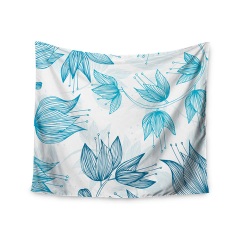 "Anchobee ""Biru Dream"" Wall Tapestry - KESS InHouse  - 1"