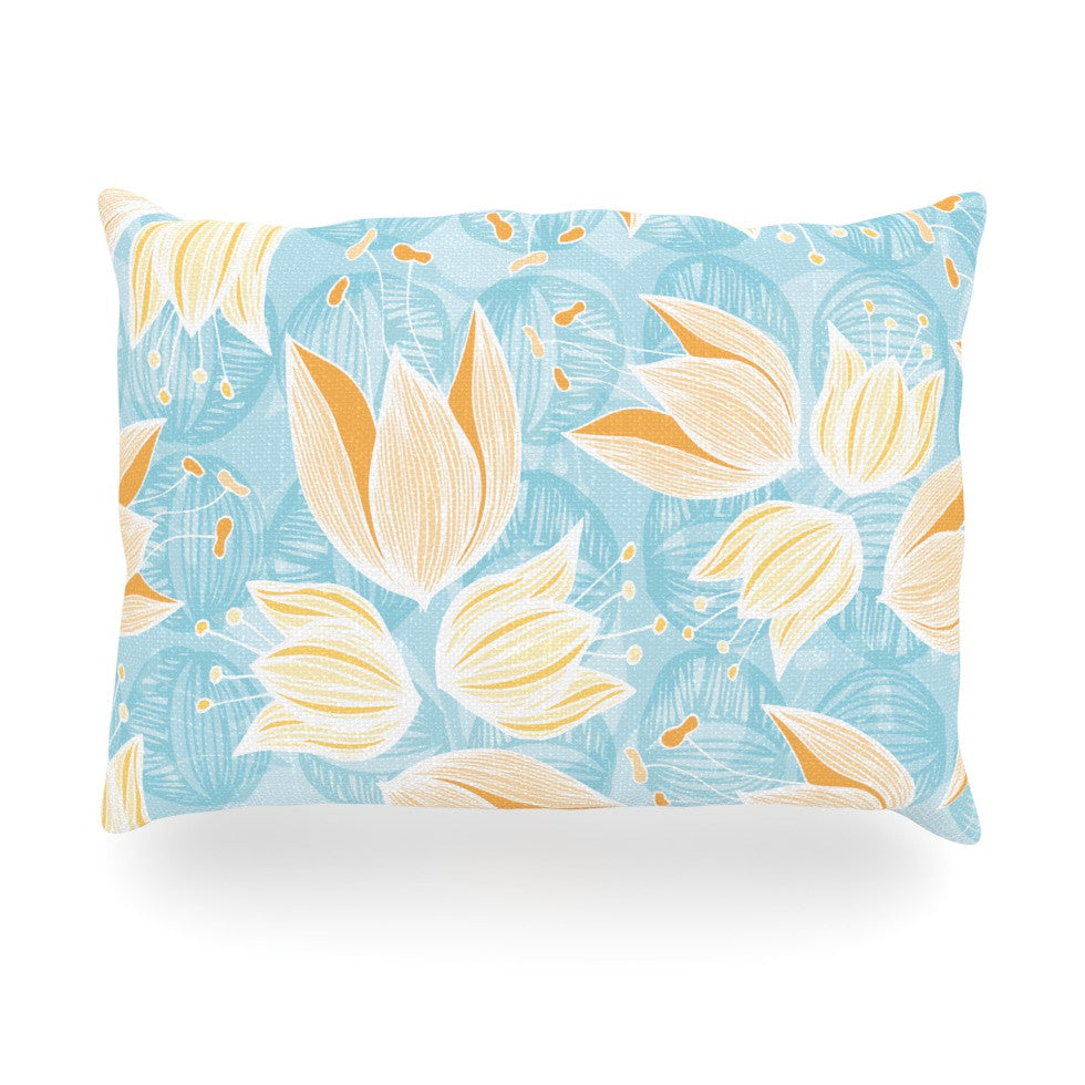 "Anchobee ""Giallo"" Oblong Pillow - KESS InHouse"