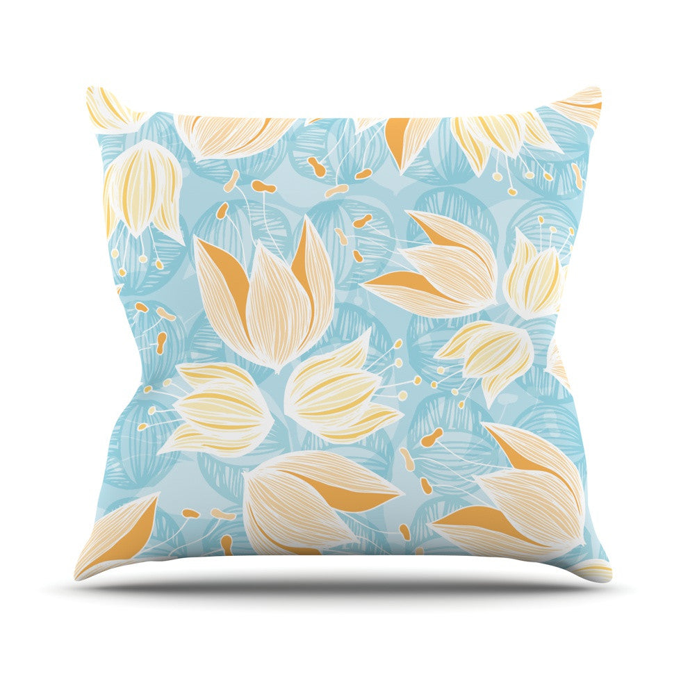 "Anchobee ""Giallo"" Throw Pillow - KESS InHouse  - 1"