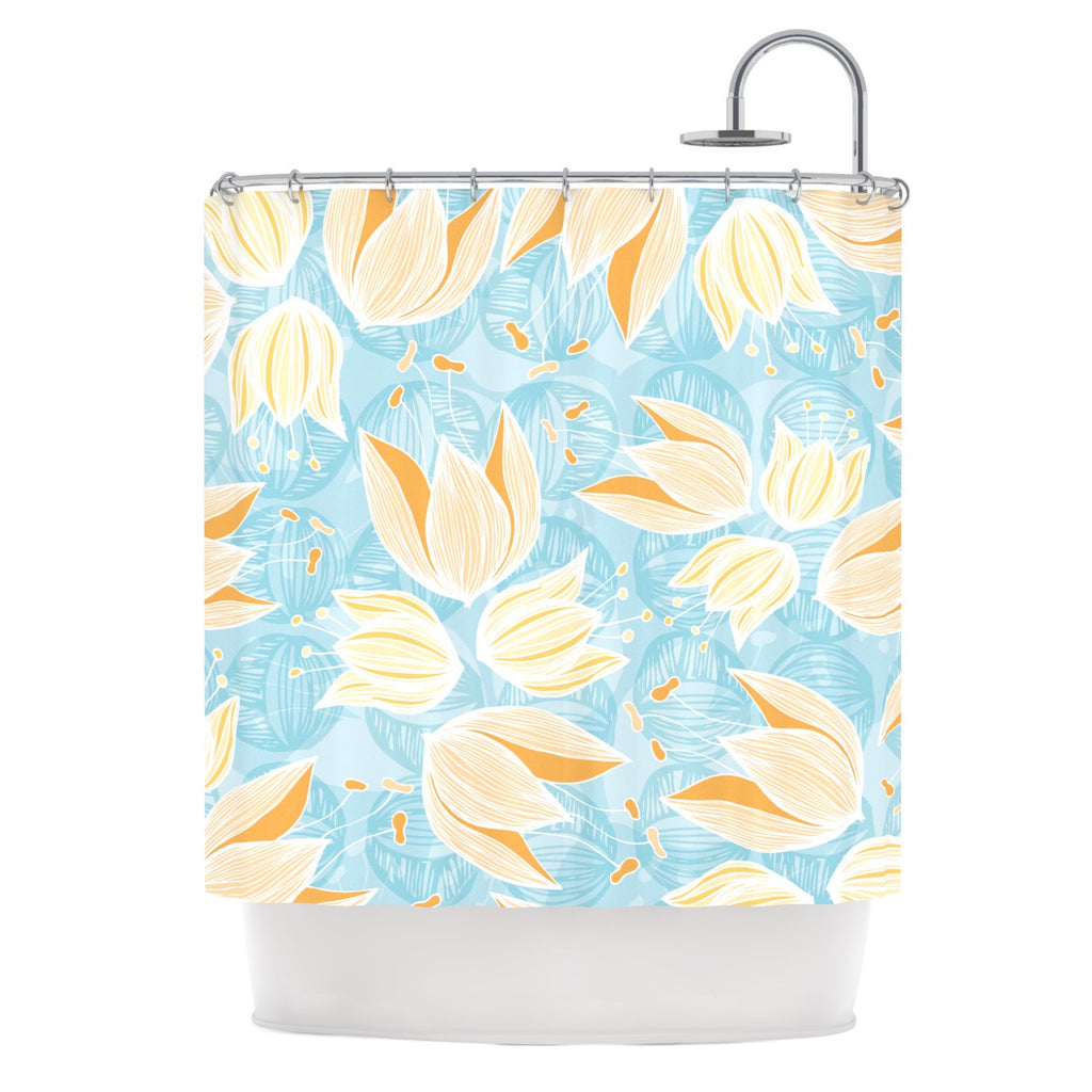"Anchobee ""Giallo"" Shower Curtain - KESS InHouse"