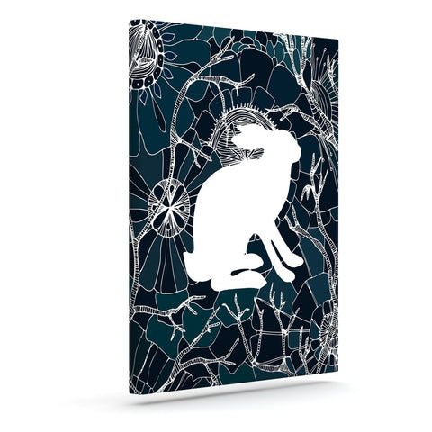 "Anchobee ""Hare"" Blue White Canvas Art - KESS InHouse  - 1"