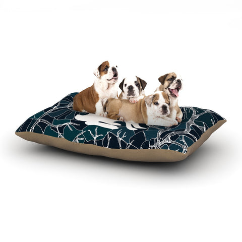 "Anchobee ""Hare"" Blue White Dog Bed - KESS InHouse  - 1"