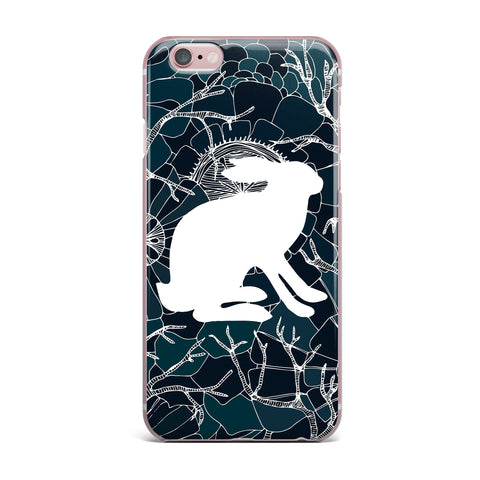 "Anchobee ""Hare"" Blue White iPhone Case - KESS InHouse"