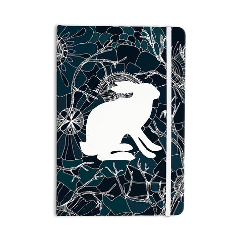 "Anchobee ""Hare"" Blue White Everything Notebook - KESS InHouse  - 1"