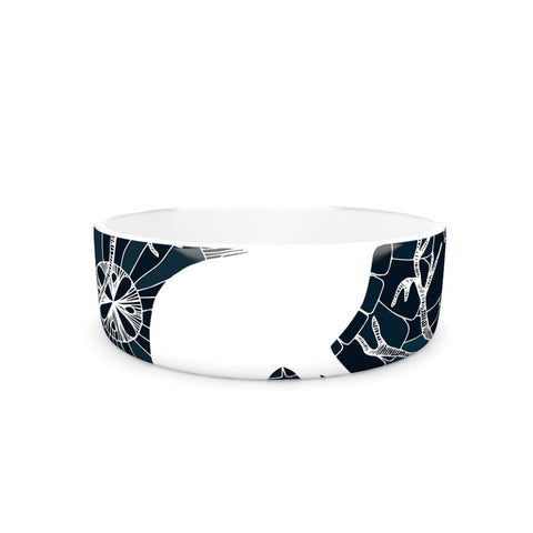 "Anchobee ""Hare"" Blue White Pet Bowl - KESS InHouse"