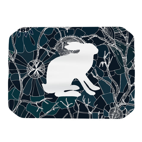 "Anchobee ""Hare"" Blue White Place Mat - KESS InHouse"