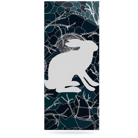 "Anchobee ""Hare"" Blue White Luxe Rectangle Panel - KESS InHouse  - 1"