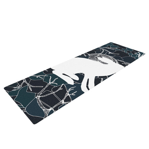 "Anchobee ""Hare"" Blue White Yoga Mat - KESS InHouse  - 1"