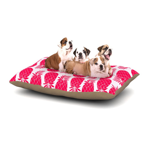 "Anchobee ""Pinya Neon Pink"" Magenta Pattern Dog Bed - KESS InHouse  - 1"