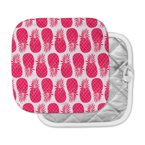 "Anchobee ""Pinya Neon Pink"" Magenta Pattern Pot Holder"