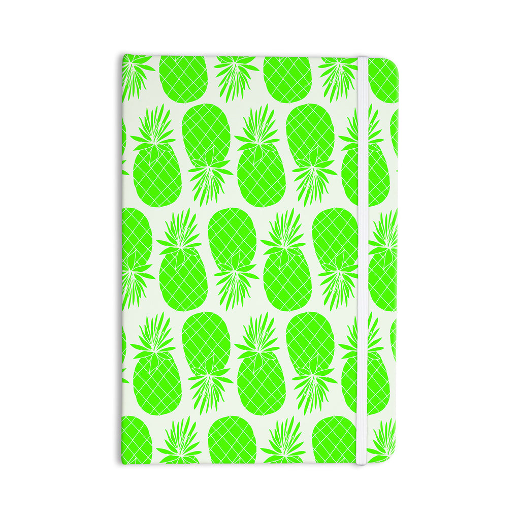 "Anchobee ""Pinya Neon Green"" Lime Pattern Everything Notebook - KESS InHouse  - 1"