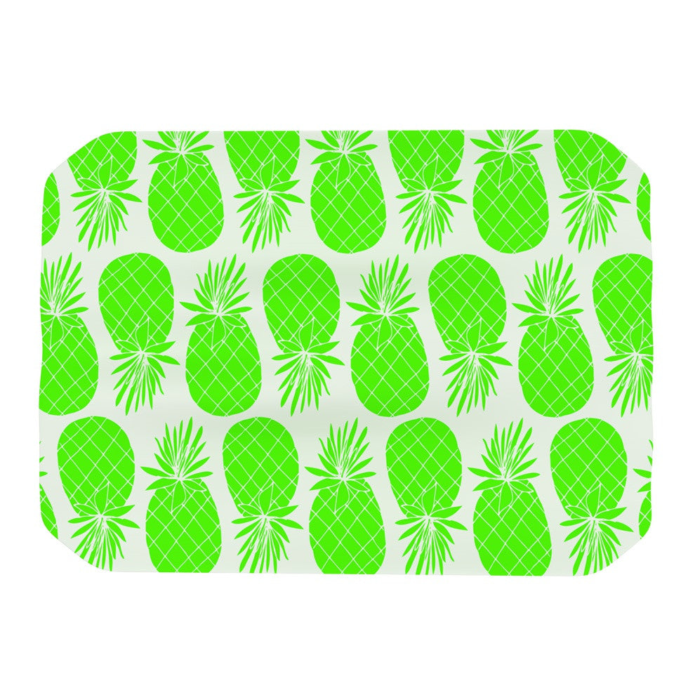 "Anchobee ""Pinya Neon Green"" Lime Pattern Place Mat - KESS InHouse"