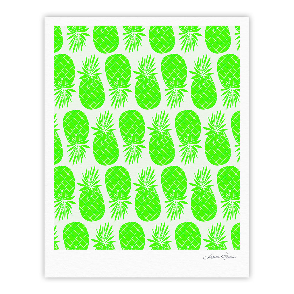 "Anchobee ""Pinya Neon Green"" Lime Pattern Fine Art Gallery Print - KESS InHouse"