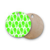 "Anchobee ""Pinya Neon Green"" Lime Pattern Round Wooden Cutting Board"