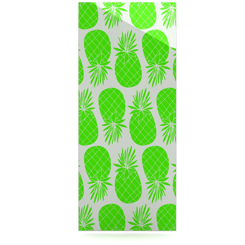 "Anchobee ""Pinya Neon Green"" Lime Pattern Luxe Rectangle Panel - KESS InHouse  - 1"