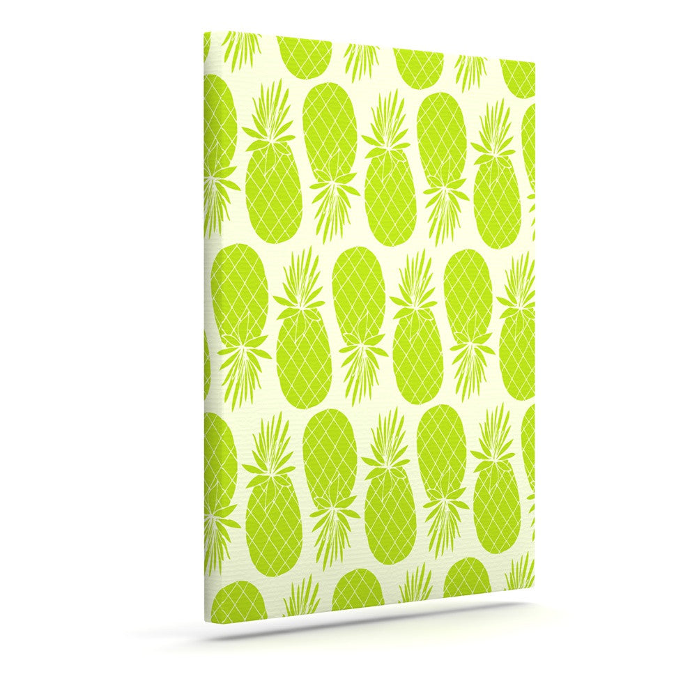 "Anchobee ""Pinya Lime"" Green Pattern Canvas Art - KESS InHouse  - 1"