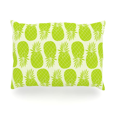 "Anchobee ""Pinya Lime"" Green Pattern Oblong Pillow - KESS InHouse"