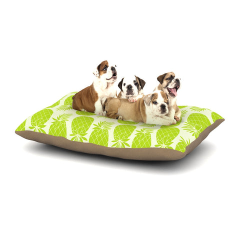 "Anchobee ""Pinya Lime"" Green Pattern Dog Bed - KESS InHouse  - 1"
