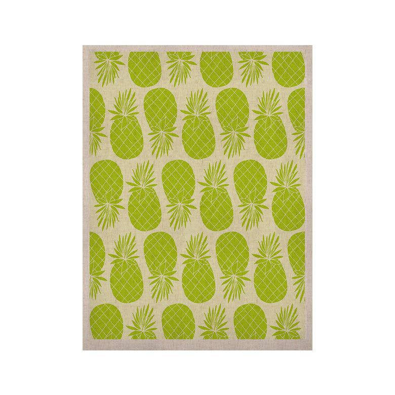 "Anchobee ""Pinya Lime"" Green Pattern KESS Naturals Canvas (Frame not Included) - KESS InHouse  - 1"