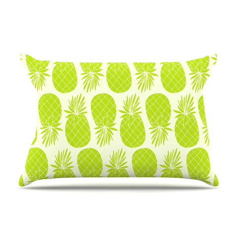 "Anchobee ""Pinya Lime"" Green Pattern Pillow Sham - KESS InHouse  - 1"