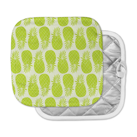 "Anchobee ""Pinya Lime"" Green Pattern Pot Holder"