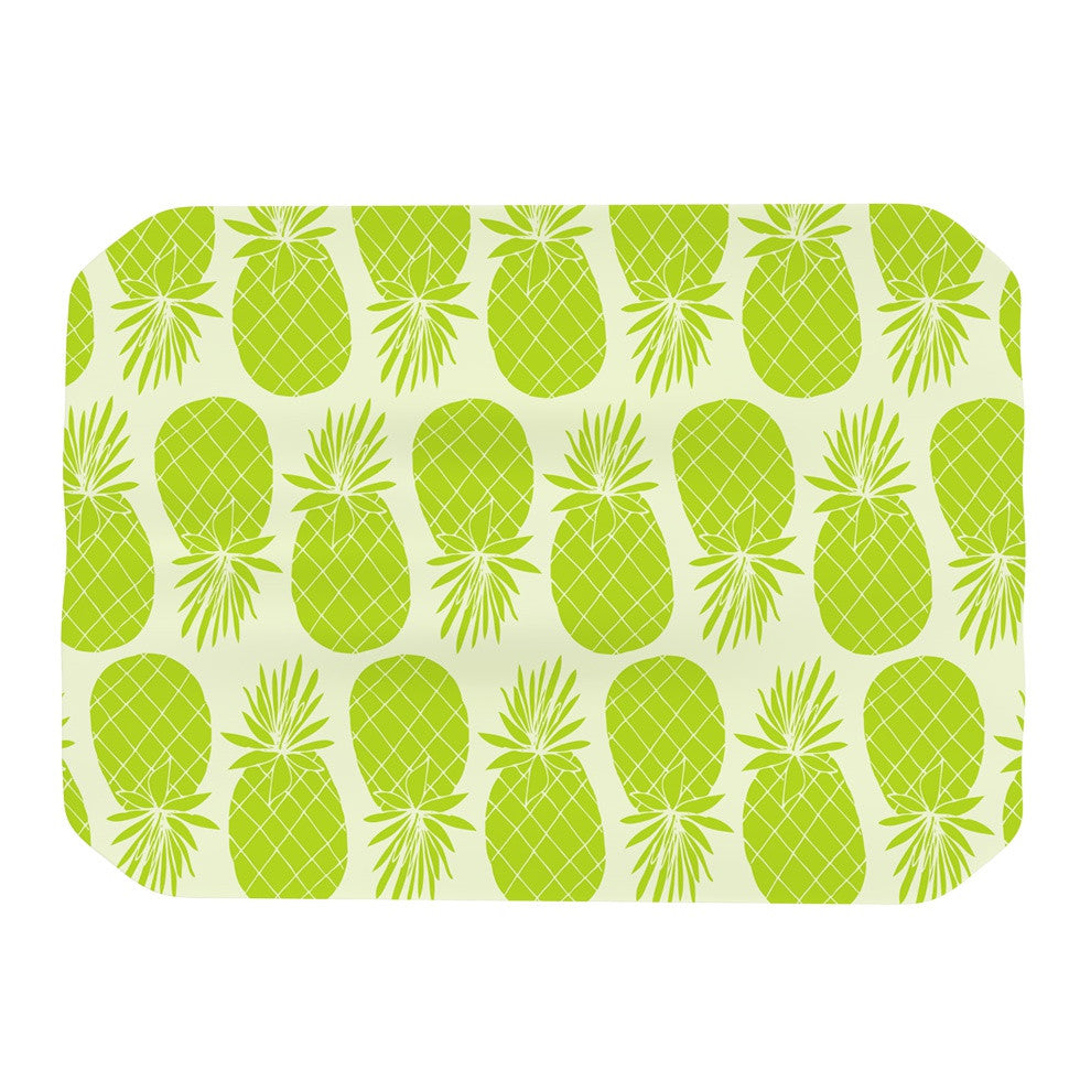 "Anchobee ""Pinya Lime"" Green Pattern Place Mat - KESS InHouse"