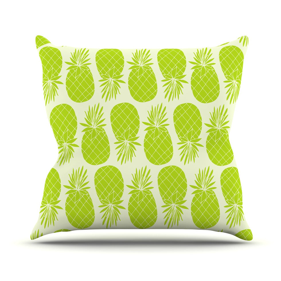 "Anchobee ""Pinya Lime"" Green Pattern Throw Pillow - KESS InHouse  - 1"