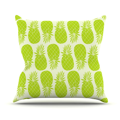 "Anchobee ""Pinya Lime"" Green Pattern Outdoor Throw Pillow - KESS InHouse  - 1"