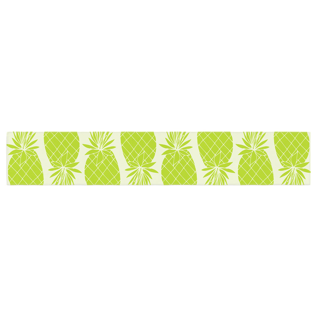 "Anchobee ""Pinya Lime"" Green Pattern Table Runner - KESS InHouse  - 1"