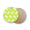 "Anchobee ""Pinya Lime"" Green Pattern Round Wooden Cutting Board"