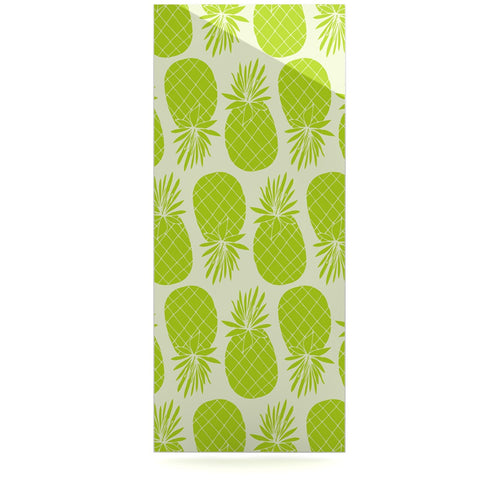 "Anchobee ""Pinya Lime"" Green Pattern Luxe Rectangle Panel - KESS InHouse  - 1"