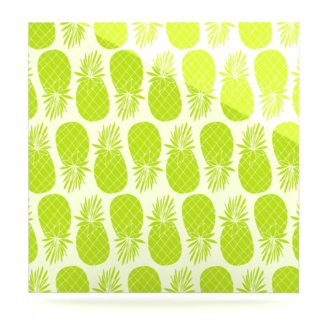 "Anchobee ""Pinya Lime"" Green Pattern Luxe Square Panel - KESS InHouse  - 1"