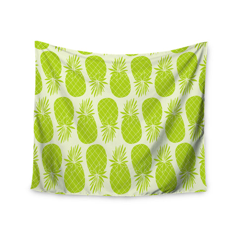 "Anchobee ""Pinya Lime"" Green Pattern Wall Tapestry - KESS InHouse  - 1"