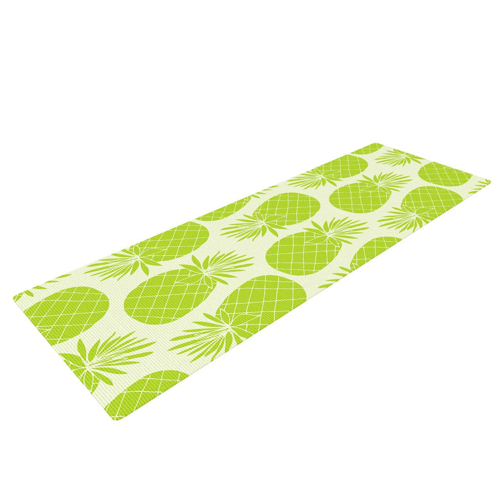 "Anchobee ""Pinya Lime"" Green Pattern Yoga Mat - KESS InHouse  - 1"