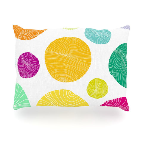 "Anchobee ""Eolo"" Multicolor Circles Oblong Pillow - KESS InHouse"