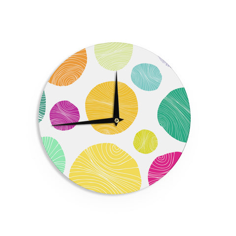 "Anchobee ""Eolo"" Multicolor Circles Wall Clock - KESS InHouse"