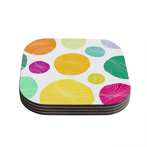 "Anchobee ""Eolo"" Multicolor Circles Coasters (Set of 4)"