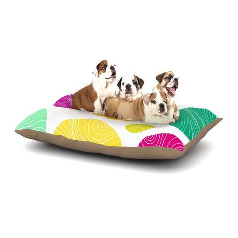 "Anchobee ""Eolo"" Multicolor Circles Dog Bed - KESS InHouse  - 1"