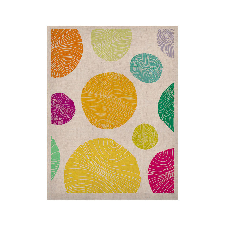 "Anchobee ""Eolo"" Multicolor Circles KESS Naturals Canvas (Frame not Included) - KESS InHouse  - 1"