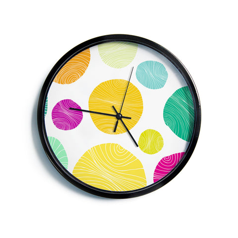 "Anchobee ""Eolo"" Multicolor Circles Modern Wall Clock"