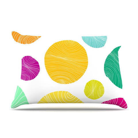 "Anchobee ""Eolo"" Multicolor Circles Pillow Sham - KESS InHouse  - 1"