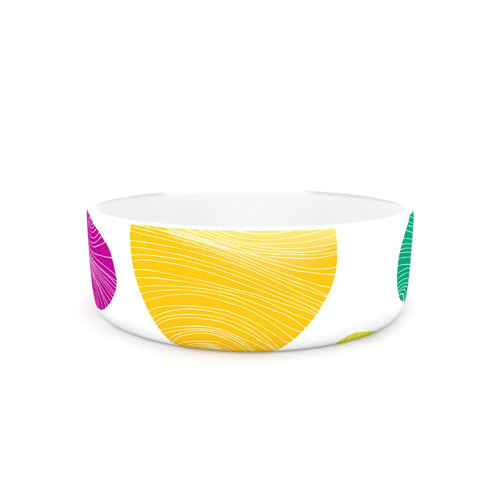 "Anchobee ""Eolo"" Multicolor Circles Pet Bowl - KESS InHouse"