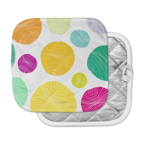 "Anchobee ""Eolo"" Multicolor Circles Pot Holder"