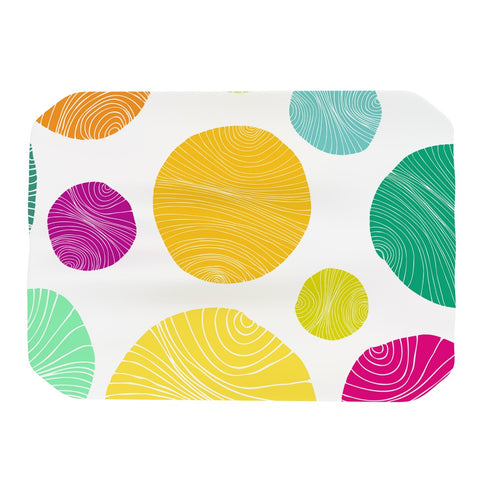 "Anchobee ""Eolo"" Multicolor Circles Place Mat - KESS InHouse"