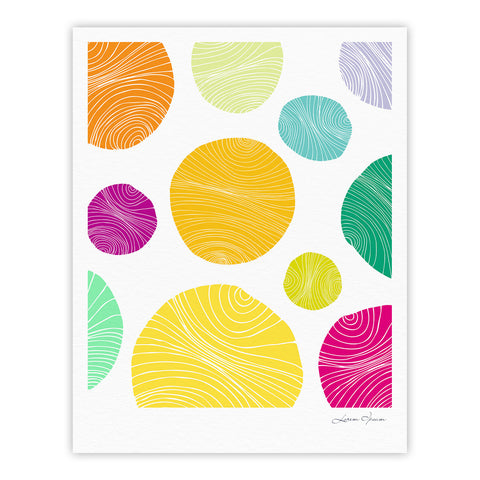 "Anchobee ""Eolo"" Multicolor Circles Fine Art Gallery Print - KESS InHouse"