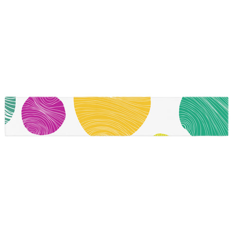 "Anchobee ""Eolo"" Multicolor Circles Table Runner - KESS InHouse  - 1"