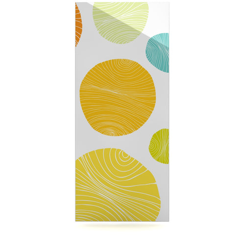 "Anchobee ""Eolo"" Multicolor Circles Luxe Rectangle Panel - KESS InHouse  - 1"