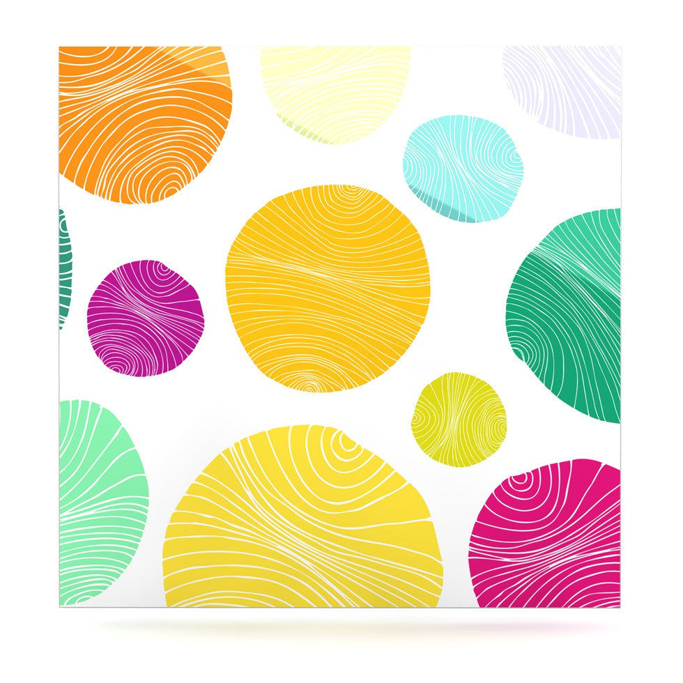 "Anchobee ""Eolo"" Multicolor Circles Luxe Square Panel - KESS InHouse  - 1"