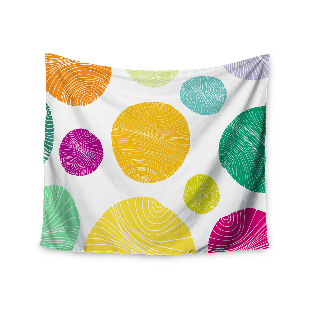 "Anchobee ""Eolo"" Multicolor Circles Wall Tapestry - KESS InHouse  - 1"