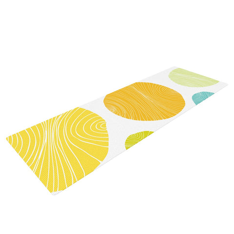 "Anchobee ""Eolo"" Multicolor Circles Yoga Mat - KESS InHouse  - 1"